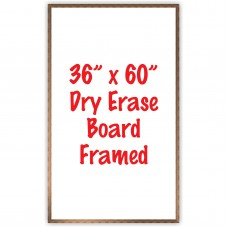 "36"" x 60"" Framed Dry Erase Whiteboard"