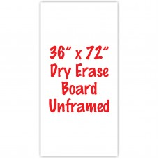"36"" x 72"" Unframed Dry Erase Whiteboard"