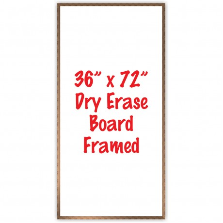 "36"" x 72"" Framed Dry Erase Whiteboard"