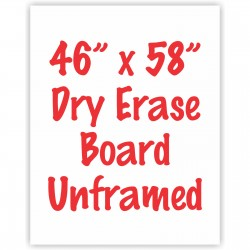 "46"" x 58"" Unframed Dry Erase Whiteboard"