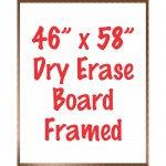 "46"" x 58"" Framed Dry Erase Whiteboard"