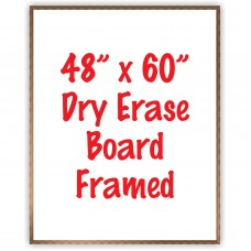 "48"" x 60"" Framed Dry Erase Whiteboard"