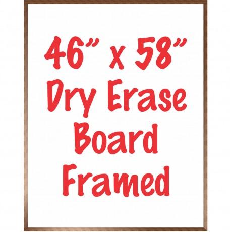 """46"""" x 58"""" Framed Dry Erase Whiteboard"""