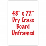 "48"" x 72"" Unframed Dry Erase Whiteboard"