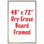"48"" x 72"" Framed Dry Erase Whiteboard"