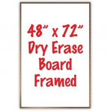 """48"""" x 72"""" Framed Dry Erase Whiteboard"""
