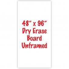 "48"" x 96"" Unframed Dry Erase Whiteboard"