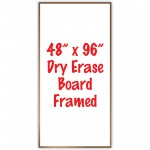 "48"" x 96"" Framed Dry Erase Whiteboard"