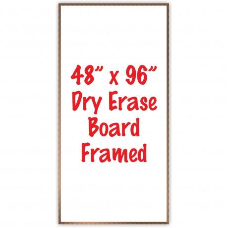 """48"""" x 96"""" Framed Dry Erase Whiteboard"""