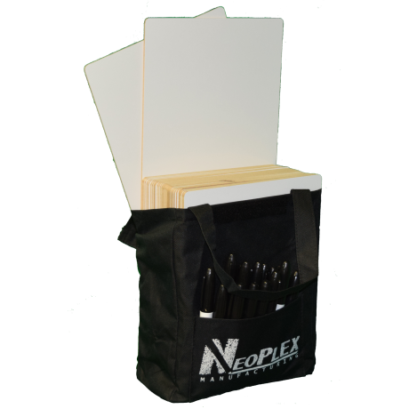 NeoPlex 30 Set Dry Erase Bag Pack for Classroom