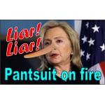 Hillary Liar Liar 3' x 5' Polyester Flag