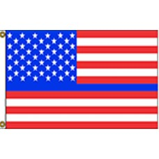 Thin Blue Line USA Red 3' x 5' Polyester Flag