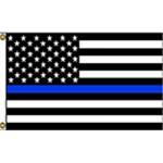 Thin Blue Line USA Black 3' x 5' Polyester Flag