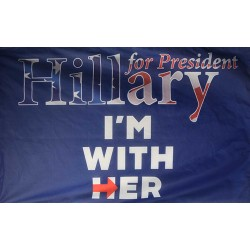 HILLARY IM WITH HER 3' x 5' Polyester Flag