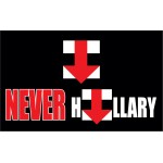 NEVER HILLARY  3' x 5' Polyester Flag