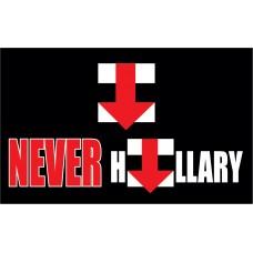 NEVER HILLARY  3' x 5' Polyester Flag