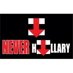 Never Hillary Black 3' x 5' Polyester Flag