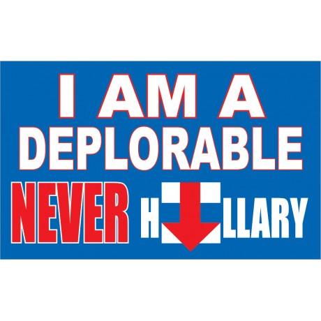 I AM DEPLORABLE 3' x 5' Polyester Flag