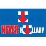 Never Hillary Blue 3' x 5' Polyester Flag
