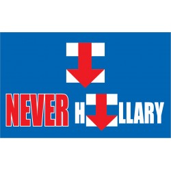 Never Hillary Blue 3' x 5' Polyester Flag