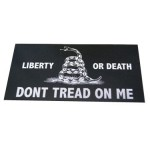 Don't Tread On Me Black Bumper Sticker