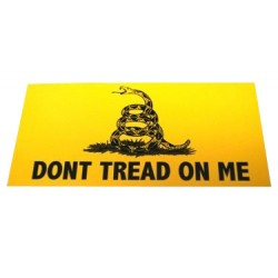 Don't Tread On Me Yellow Bumper Sticker