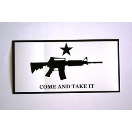 Come And Take It Carbine Bumper Sticker