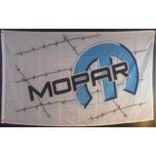 Mopar White 3'x 5' Flag
