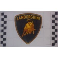 Lamborghini Racing White 3'x 5' Flag 35