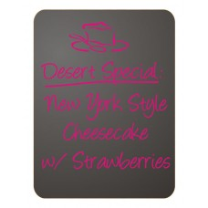 "6 Pack 12""x 16"" Frameless Chalkboard Sign"