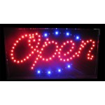 "13"" x 24"" Open LED Sign Blue Tracer"