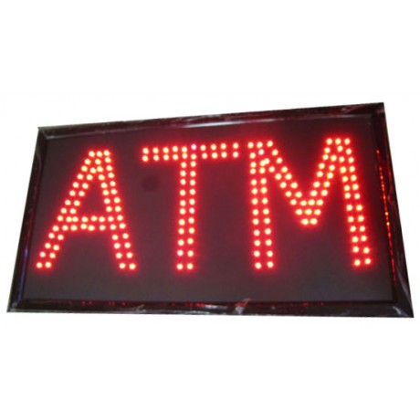 "13"" x 24"" ATM Red LED Sign"
