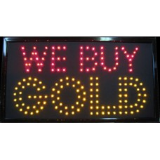 "13"" x 24"" We Buy Gold LED Sign"