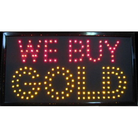 "13"" x 24"" We Buy Gold LED Sign"