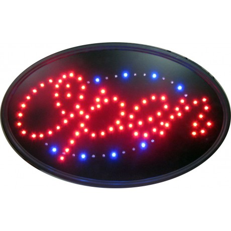 "14"" x 23"" Oval Open LED Sign"