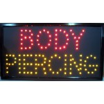 "13"" x 24"" Body Piercing LED Sign"