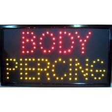 "13"" x 24"" Body Piercing LED Sign"