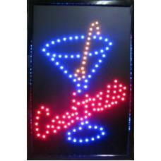 """24"""" x 16"""" Cocktails LED Sign"""