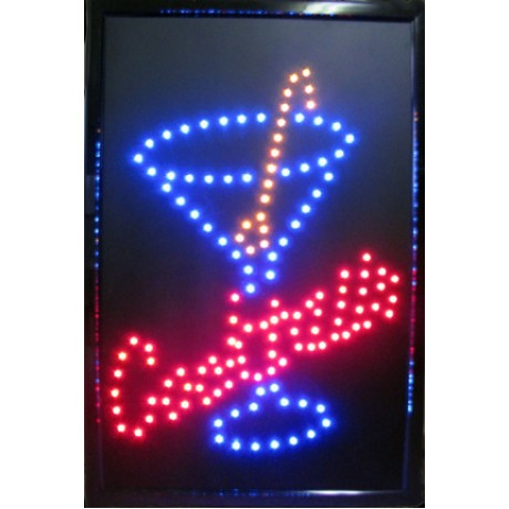 "24"" x 16"" Cocktails LED Sign"