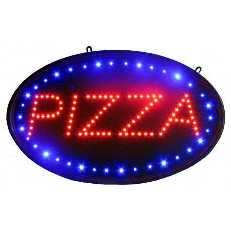 "14"" x 23"" Oval Pizza LED Sign"