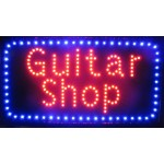 "13"" x 24"" Guitar Shop LED Sign"