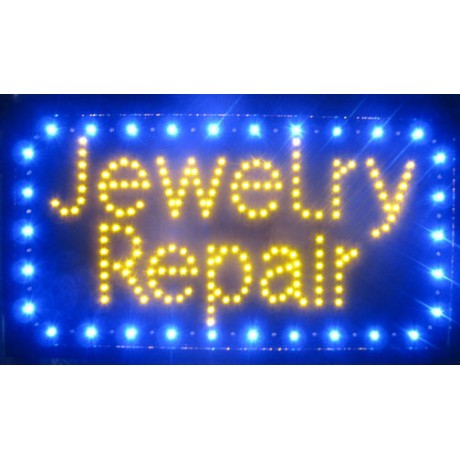 "13"" x 24"" Jewelry Repair LED Sign"