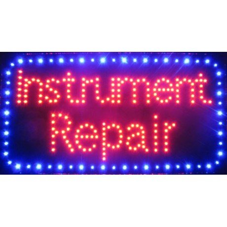 "13"" x 24"" Instrument Repair LED Sign"