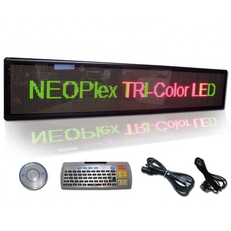 "13""H x 61""W 3 Color Scrolling LED Sign"