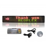 "6"" H x 40"" W 3 Color Scrolling LED Sign"