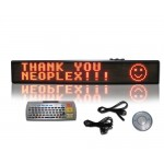 "6""H x 40""W One Color Scrolling LED Sign"
