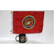 Marines Black Coffee Mug