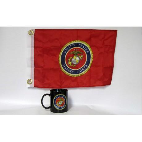 Marines Black Coffee Mug