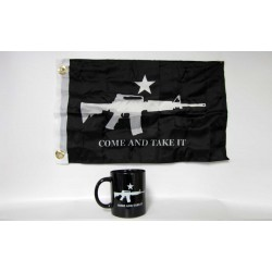 Come and Take It Black Coffee Mug