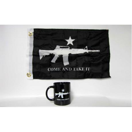Come and Take It Black Coffee Mug